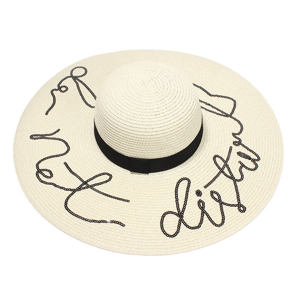 Do Not Disturb Straw Hat-hat-Moonlight Gypsy