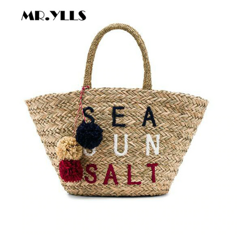 Sea Sun Salt Straw Beach Tote-Handbag-Moonlight Gypsy