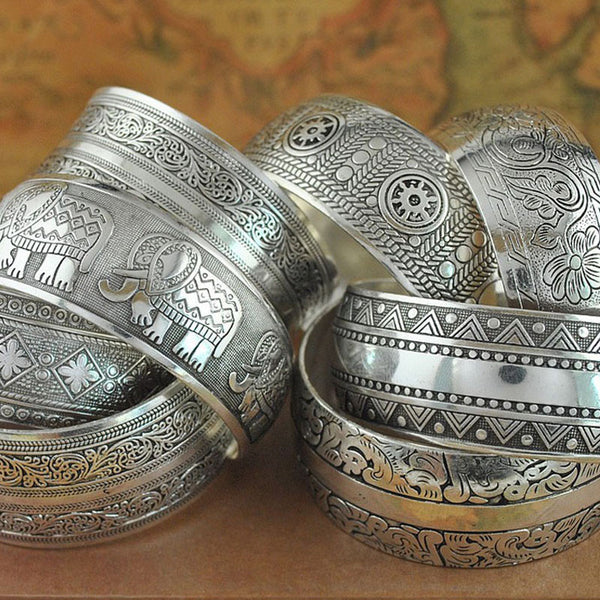 Tibetan Bangle Bracelet - Moroccan Mosaic-bracelet-Moonlight Gypsy