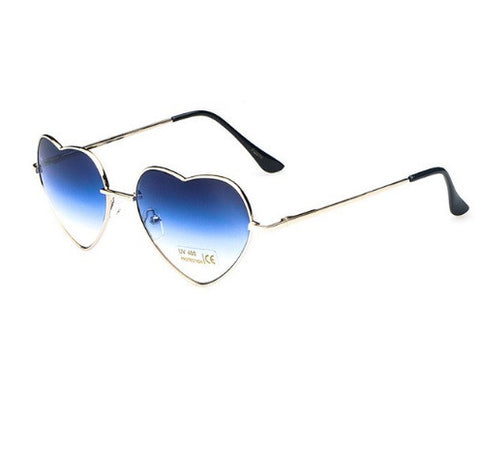 Blue Heart Aviator Sunglasses-Sunglasses-Moonlight Gypsy
