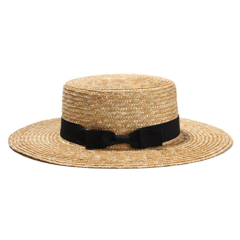 Straw Bow Hat - Moonlight Gypsy