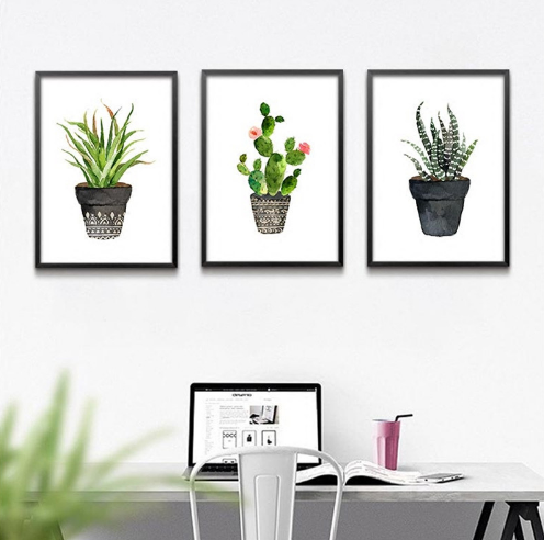 Watercolor Cactus Wall Prints-Wall Art-Moonlight Gypsy
