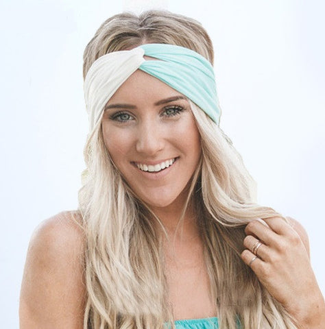 Colorblock Twist Boho Headband-Hair Accessories-Moonlight Gypsy
