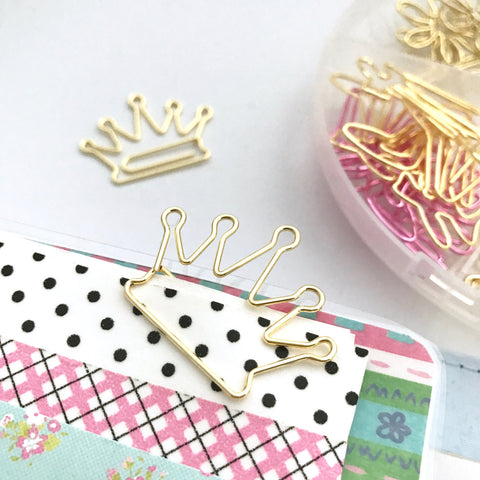 Crown Paper Clip Set-Stationary-Moonlight Gypsy