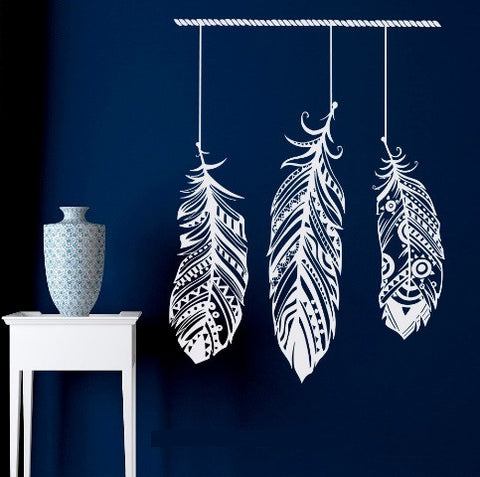 Tribal Feather Wall Sticker-Home Decor-Moonlight Gypsy