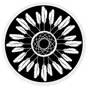 Flower Fringe Beach Towel Roundie-Beach Towel-Moonlight Gypsy
