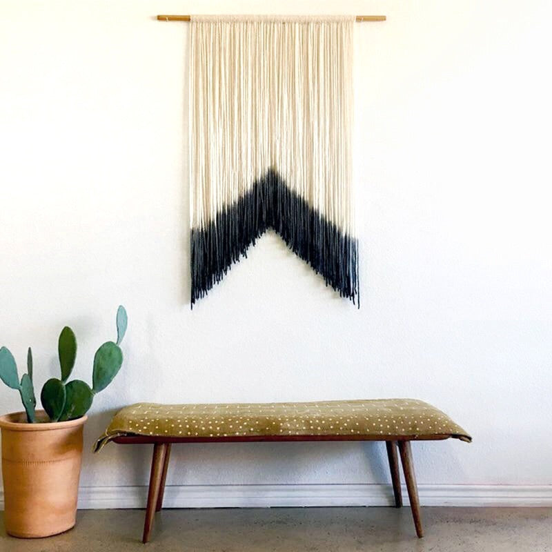 Dip Dye Macrame Wall Hanging-wall tapestry-Moonlight Gypsy