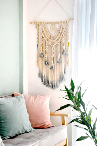 Tie Dye Macrame Wall Hanging-wall tapestry-Moonlight Gypsy