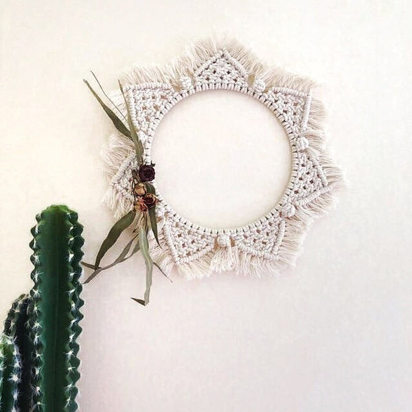 Mirrored Macrame Wall Hanging - Moonlight Gypsy