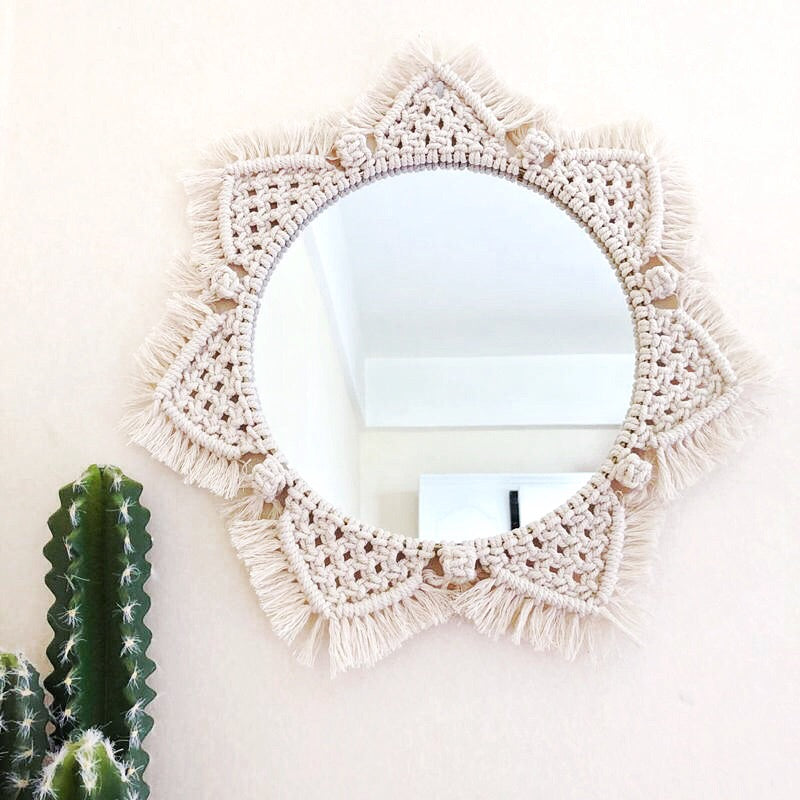 Mirrored Macrame Wall Hanging-wall tapestry-Moonlight Gypsy