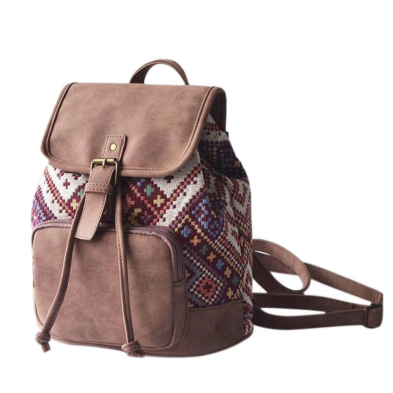 Faux-Leather Boho Backpack-Moonlight Gypsy
