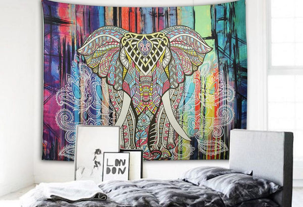 Elephant Wall Decor Tapestry-Tapestry-Moonlight Gypsy