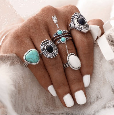 Gypsy Bohemian Ring Set-rings-Moonlight Gypsy