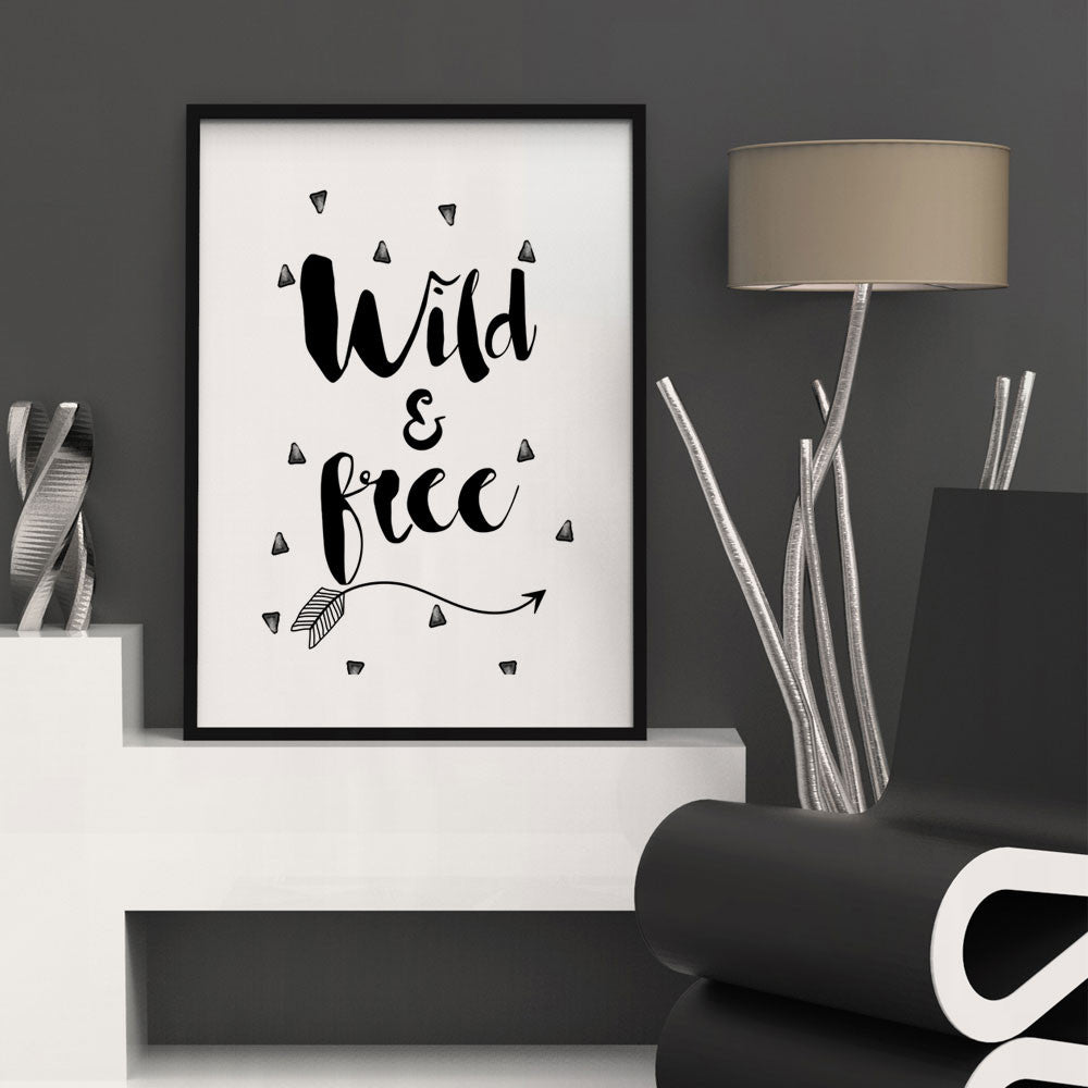Wild & Free Wall Art Print-Home Decor-Moonlight Gypsy