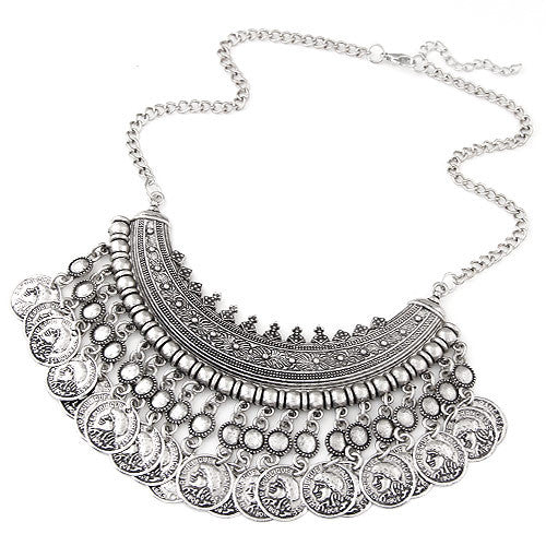 Bohemian Vintage Statement Necklace - Moonlight Gypsy