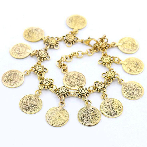 Vintage Coin Anklet - Moonlight Gypsy