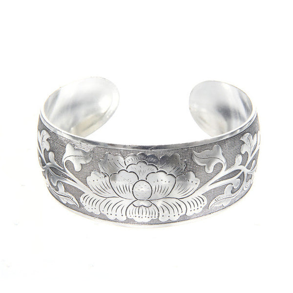 Tibetan Bangle Bracelet - Hibiscus - Moonlight Gypsy