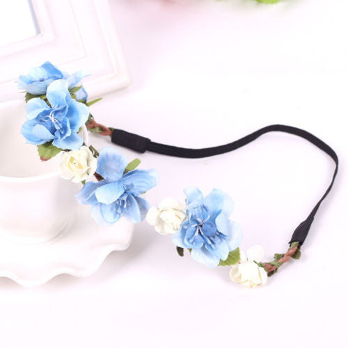 Bohemian Flower Crown-Hair Accessories-Moonlight Gypsy