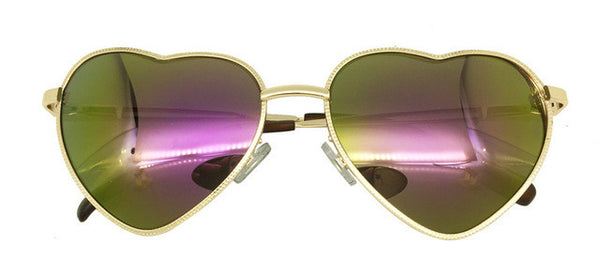 Green Heart Aviator Sunglasses-Sunglasses-Moonlight Gypsy