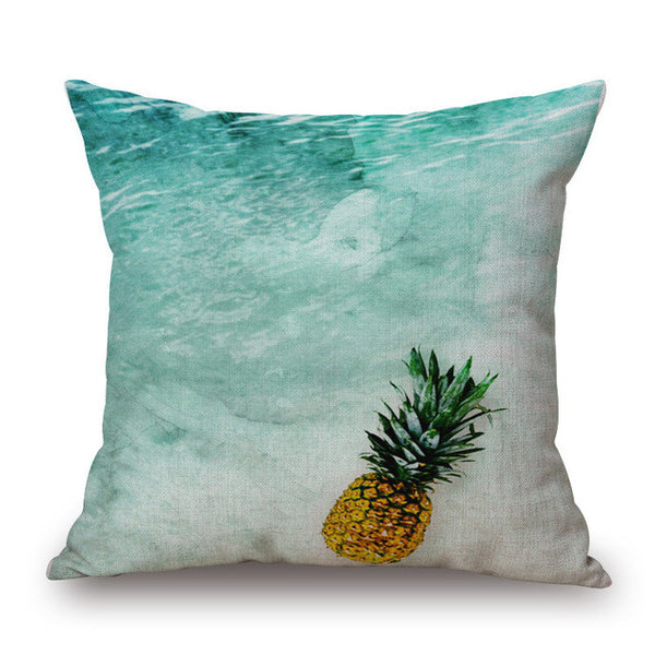 Pineapple Stripe Print Pillow Cover-Home Decor-Moonlight Gypsy