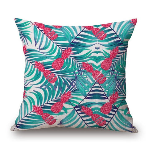 Pineapple Print Pillow Cover-Home Decor-Moonlight Gypsy