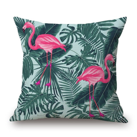 Flamingo Print Pillow Cover-Home Decor-Moonlight Gypsy