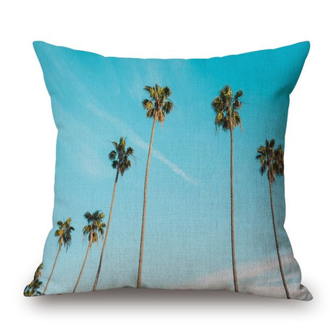 Palm Tree Print Pillow Cover-Home Decor-Moonlight Gypsy