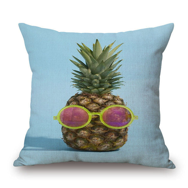 Pineapple Ocean Print Pillow Cover-Home Decor-Moonlight Gypsy