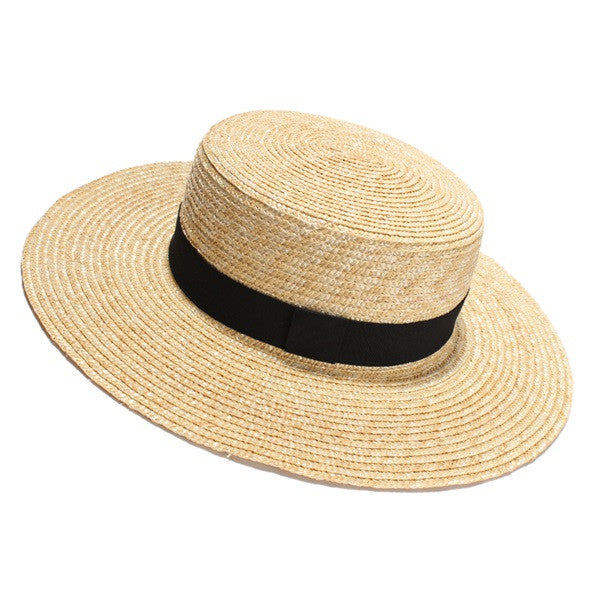 Straw Bow Hat-Moonlight Gypsy