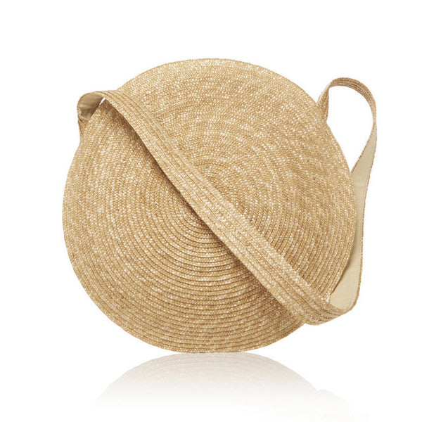 Large Circle Straw Bag-Handbag-Moonlight Gypsy