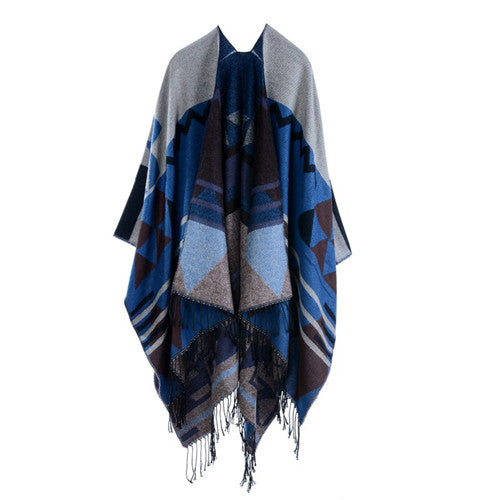 Bohemian Fringe Poncho Sweater-Accessories-Moonlight Gypsy