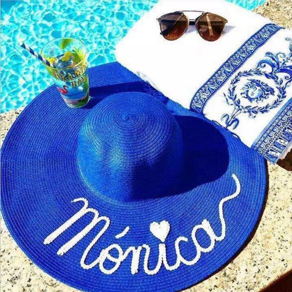 Vacation Mode Sequin Straw Beach Hat-hat-Moonlight Gypsy