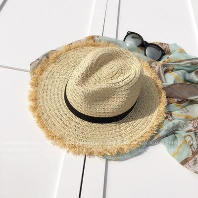 Fringe Straw Hat-hat-Moonlight Gypsy