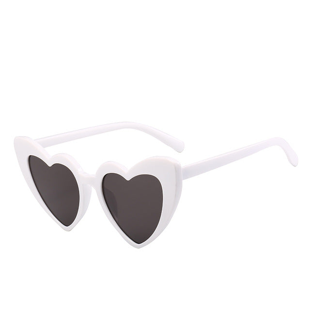 White Heart Cat Eye Sunglasses-Sunglasses-Moonlight Gypsy