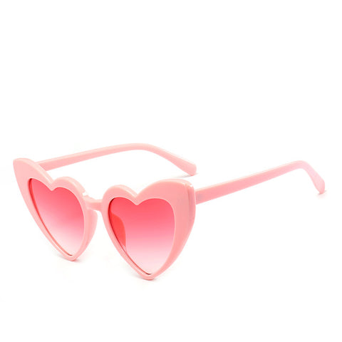 Pink Heart Cat Eye Sunglasses-Sunglasses-Moonlight Gypsy