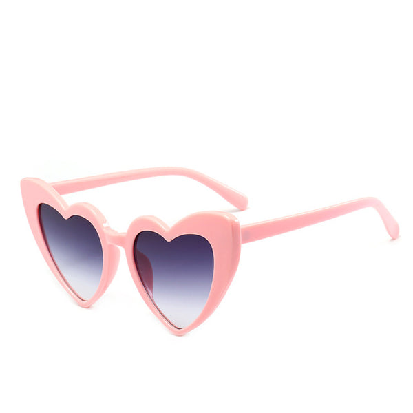 Black Heart Cat Eye Sunglasses-Sunglasses-Moonlight Gypsy