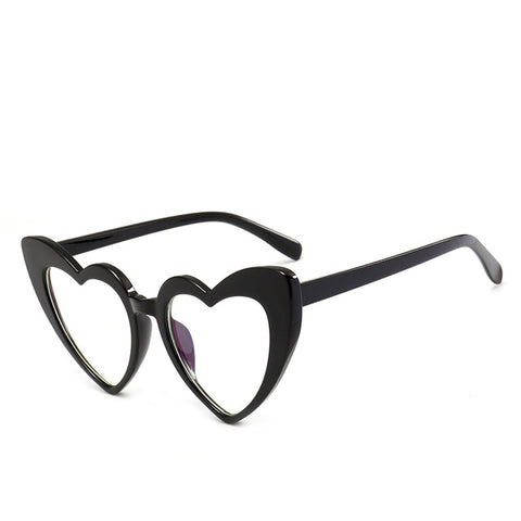 Clear Heart Cat Eye Sunglasses-Sunglasses-Moonlight Gypsy