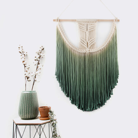 Ombre Macrame Wall Hanging-wall tapestry-Moonlight Gypsy