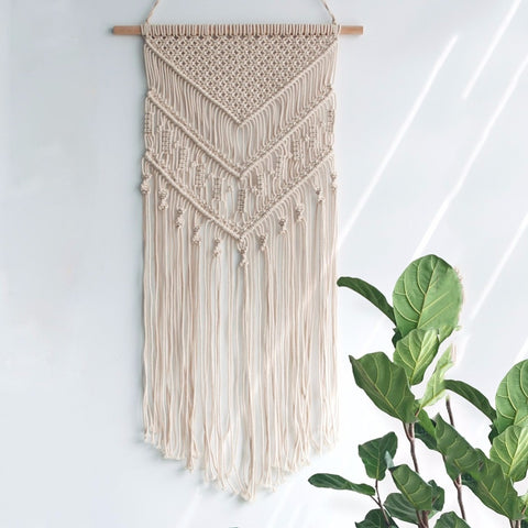 Macrame Crochet Wall Hanging-wall tapestry-Moonlight Gypsy
