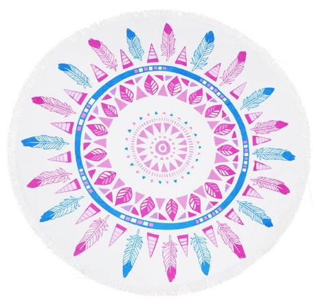 Pineapple Palm Fringe Beach Towel Roundie-Beach Towel-Moonlight Gypsy