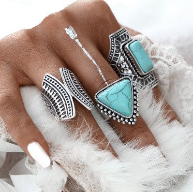Nomad Boho Stackable Ring Set-rings-Moonlight Gypsy