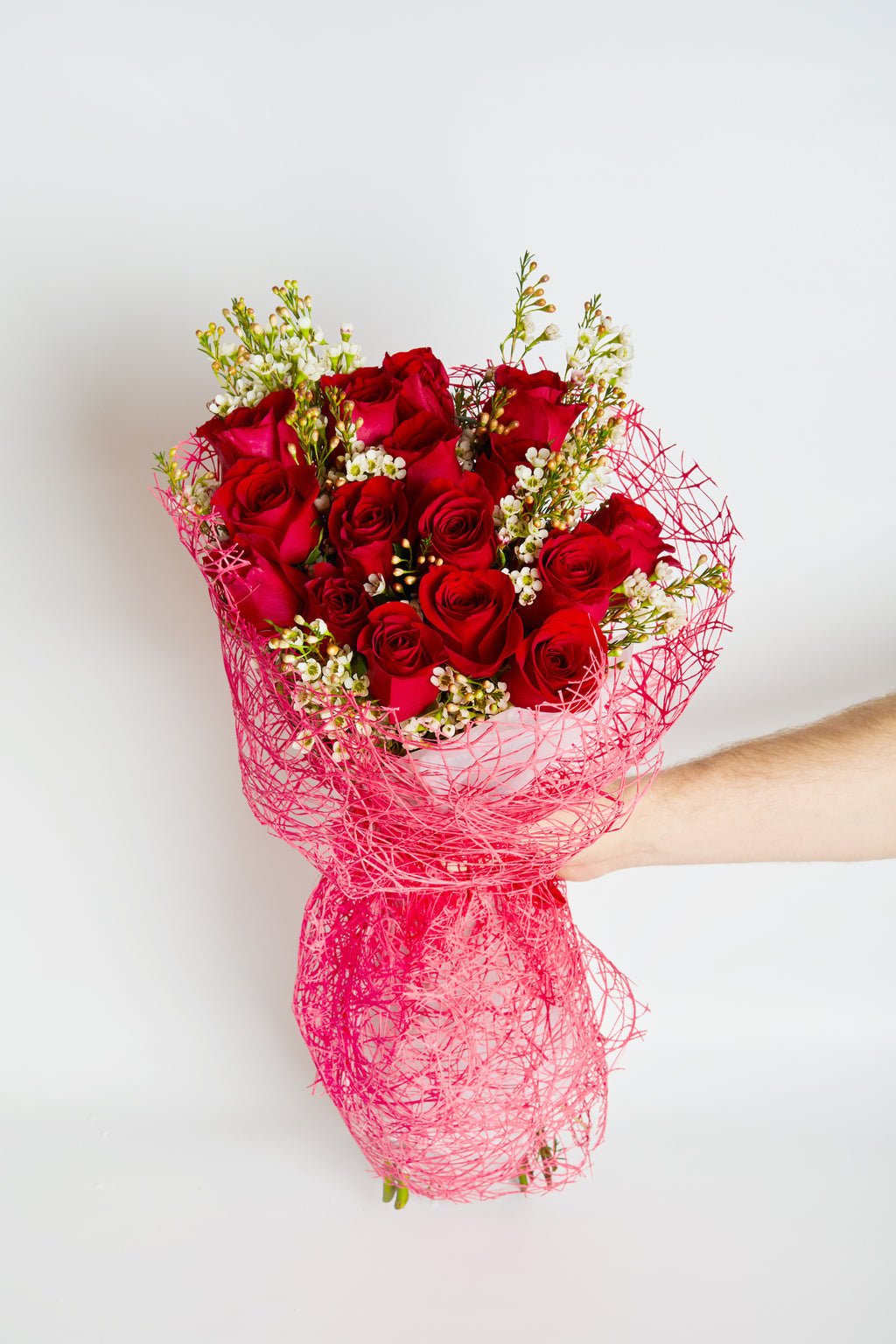 Bouquet of premium red roses