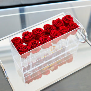 Acrylic Box  rectangle for 12 roses