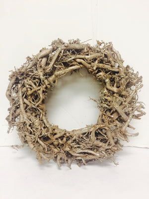 Shiny Bronze Wood Stick Wreath