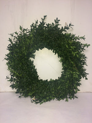 "16""/26"" Green Boxwood Wreath"