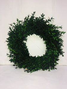 "12""/20"" Green Boxwood Wreath"