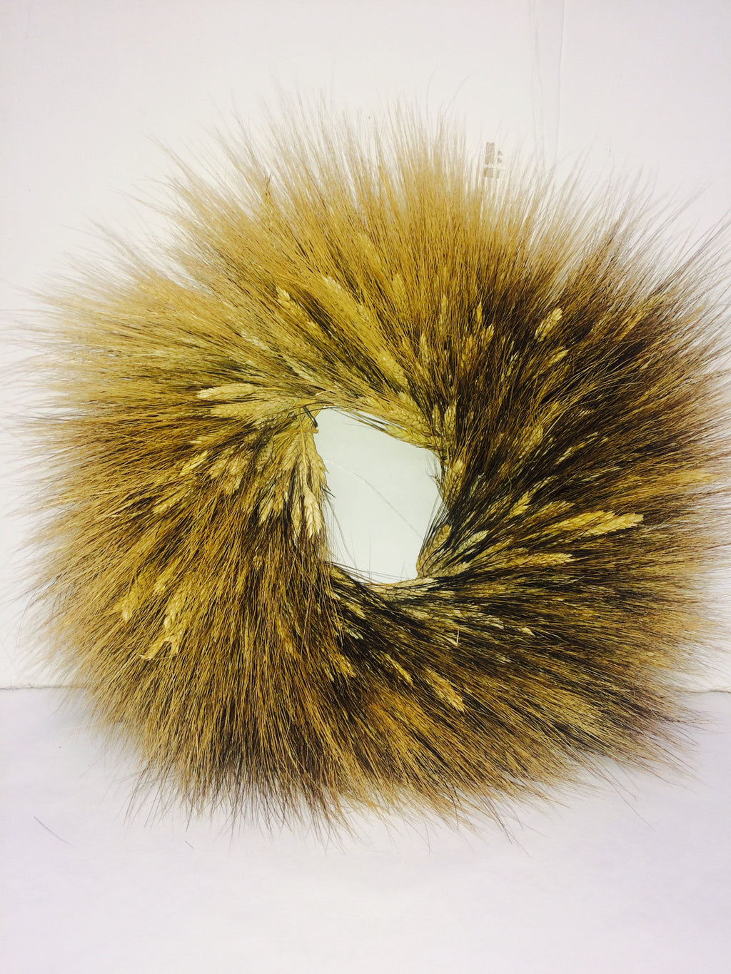 "12""/20"" Natural Blackbeard Wheat Wreath"