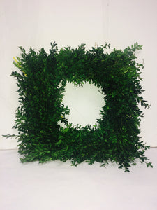 12'' Square Boxwood Wreath