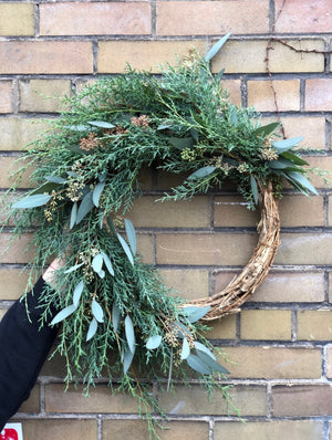 Disaner Wreath Eucalyptus  22""