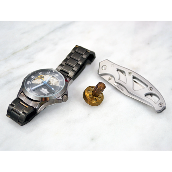 TFD Spin Top - Pocket Size - EDC Gear - All Stainless Steel - Gold Anodized, Spin Tops - TFD.world